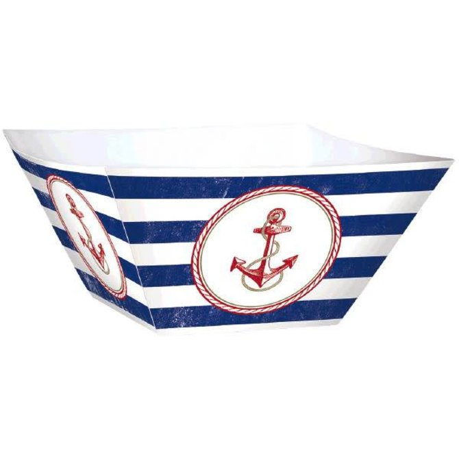 Anchors Aweigh Square Paper Bowls