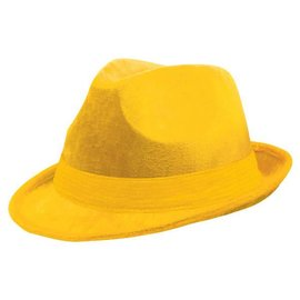 Yellow Velour Fedora