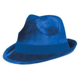 Blue Velour Fedora