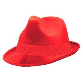 Red Velour Fedora