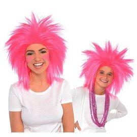Pink Crazy Wig