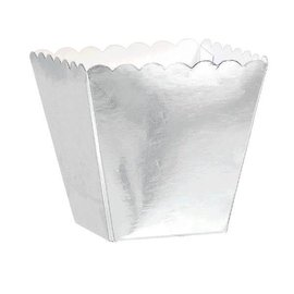 Mega Pack Scalloped Favor Boxes - Silver