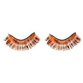 Orange Tinsel Eyelashes