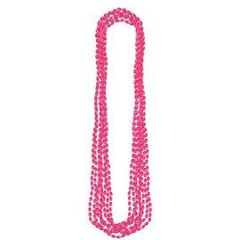 Pink Metallic Bead Necklaces 8ct