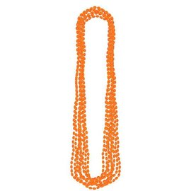 Orange Metallic Bead Necklaces 8ct