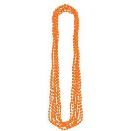 Orange Metallic Bead Necklaces 8ct