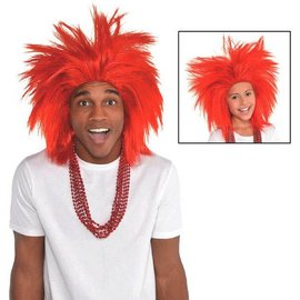 Red Crazy Wig