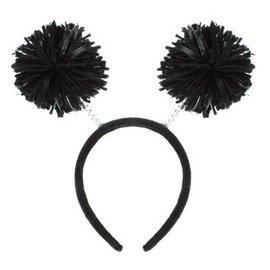 Black Pom Pom Headbopper