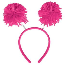 Pink Pom Pom Headbopper