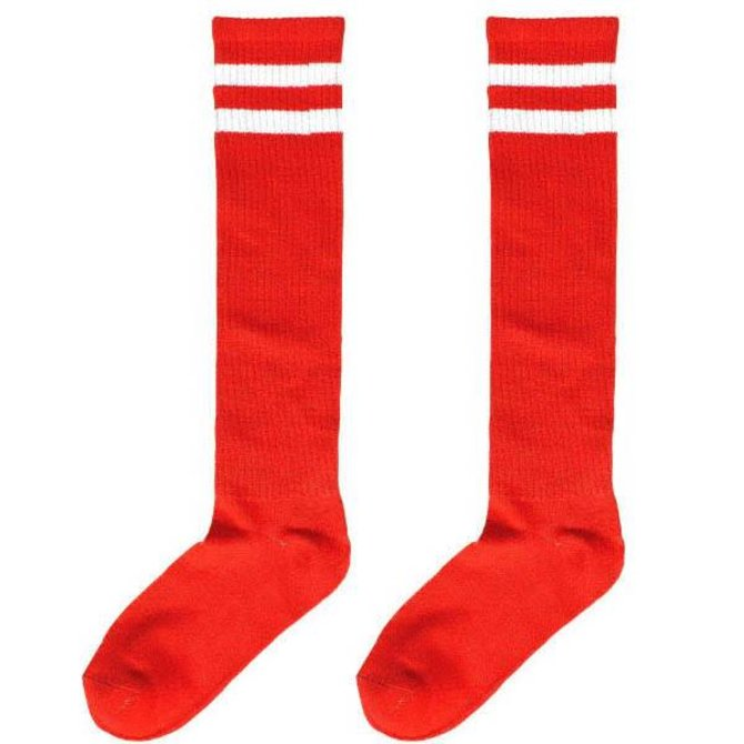 38bae23030c Red Striped Knee Socks - POP! Party Supply