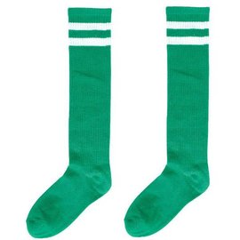 Green Striped Knee Socks