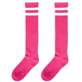 Pink Striped Knee Socks
