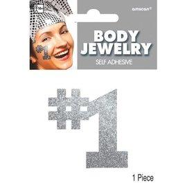 Silver #1 Body Jewelry