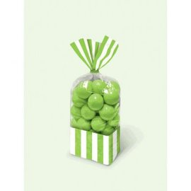Striped Party Bag - Kiwi 10ct.