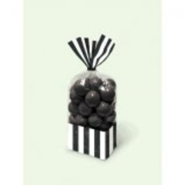Striped Party Bag ‑ Black-10ct