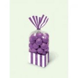 Striped Party Bag ‑ New Purple-10ct