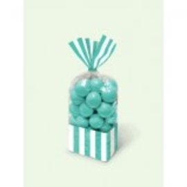 Striped Party Bag ‑ Robin'S Egg Blue-10 ct