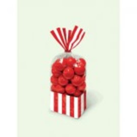 Striped Party Bag ‑ Apple Red-10ct