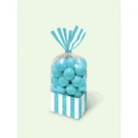 Striped Party Bag ‑ Caribbean Blue-10ct