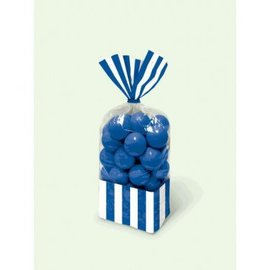 Striped Party Bag - Bright Royal Blue-10ct