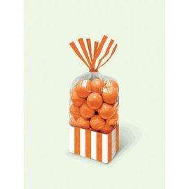 Striped Party Bag - Orange Peel 10ct.