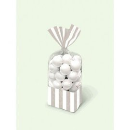 Striped Party Bag - Silver 10ct.