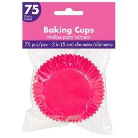 Cupcake Baking Cups - Bright Pink 75ct