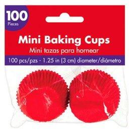 Mini Cupcake Cases - Apple Red 100ct