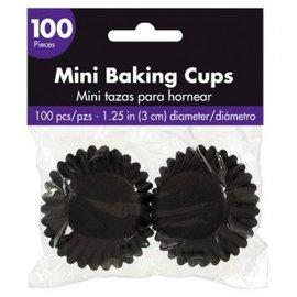 Mini Cupcake Cases - Black 100ct.