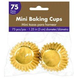 Mini Cupcake Cases - Gold 75ct.