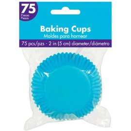 Cupcake Cases - Caribbean Blue 75ct.