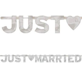 Just Married - Large Foil Letter Banner