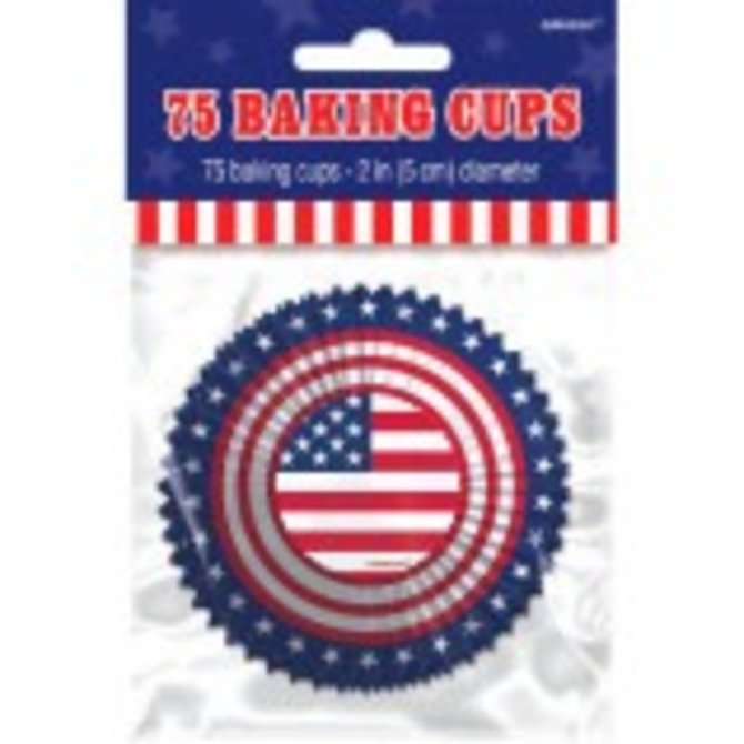 American Flag Baking Cups