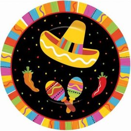 """Fiesta Fun Round Plates, 7""""-8ct"""