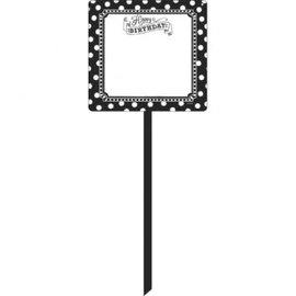 Black & White Yard Sign