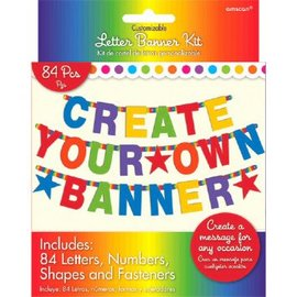 Rainbow Customizable Letter Banner