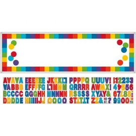 Rainbow Customizable Giant Sign Banner 65X20 includes 120 adhesive letters-symbols- numbers