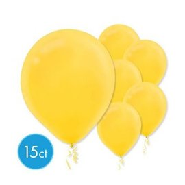 Yellow Sunshine Solid Color Latex Balloons - Packaged, 15ct