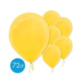 Yellow Sunshine Solid Color Latex Balloons - Packaged, 72ct