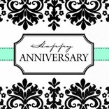 Always & Forever Happy Anniversary Beverage Napkins 16ct.