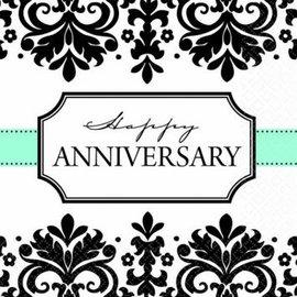 Always & Forever Happy Anniversary Beverage Napkins 16ct.