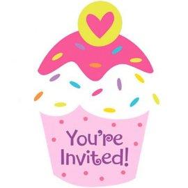 Cupcake Party Postcard Invitations, 8ct
