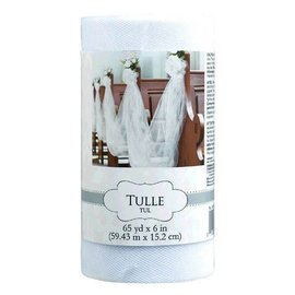 "Tulle Spool - White 6"" x 65 yards"
