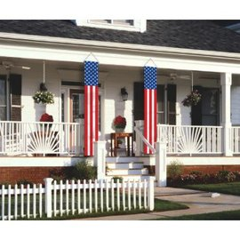 Patriotic Flag Hanging Home Decoration 2 ct