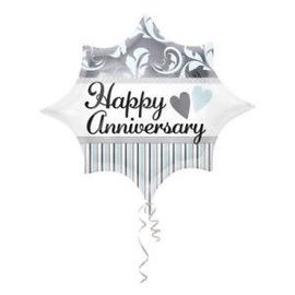 "Elegant Happy Anniversary Balloon, 20"""