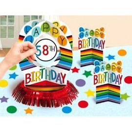 Rainbow Birthday Add-Any-Age Table Decorating Kit