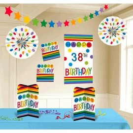 Rainbow Birthday Add-Any-Age Room Decorating Kit