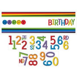 Rainbow Birthday Add-Any-Age Giant Sign Banner