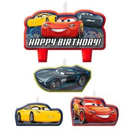 ©DISNEY CARS 3 Birthday Candle Set 4 ct. - Clearance