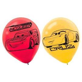 ©DISNEY CARS 3 Printed Latex Balloons 6ct.